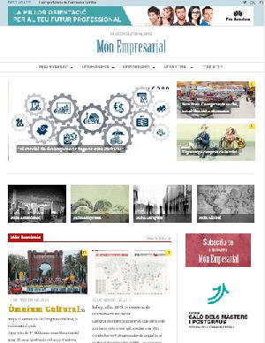 Pàgina web de la revista Món Empresarial